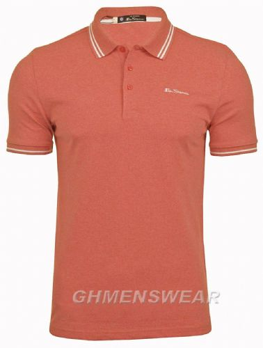 BEN SHERMAN TIPPED POLO SHIRT - ROSE PINK